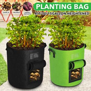 4/7/10/15 Gallon Tomato Potato  Bag Growing Bags Flower Garden  *c