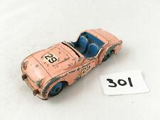 DINKY TOYS # 111 TRIUMPH TR2 SPORTS CAR ORIGINAL DIECAST 1956 PINK/BLUE