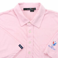 "RLX Ralph Lauren Men Large 47"" The Patriot Pocket Polo Shirt Pink Polyester"