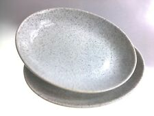 Set Of 2 Serving/ Salad Bowls Cream With Speckles High Quality Stoneware