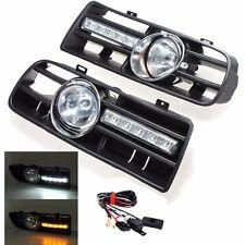 1Pair Fog Light & Daytime Running Light Grill For VW Golf MK4 99 00 01 02 03 04