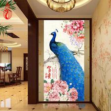 5D DIY Embroidery Peacock Peony rich flowers Diamond Painting Cross Stitch KITS