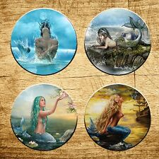 Fantasy Mermaid set of 4 Round Rubber Drink Coaster