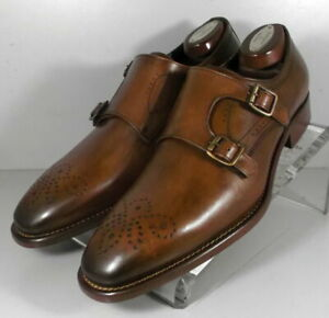 242874 MSi60 Men's Shoes Size 13 M Brown Leather Made in Italy Johnston Murphy