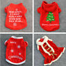Puppy Pet Cat Dog Hoodie Jumpsuit Christmas Santa Warm Apparel Costumes Clothes