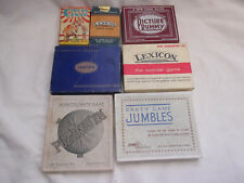 Vintage Collection x 7 Games Car Picture Rummy Lexicon Circus Snap Canasta etc