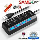 Super Fast 4 Port USB HUB 2.0 Multi Splitter Expansion Desktop PC Laptop Adapter