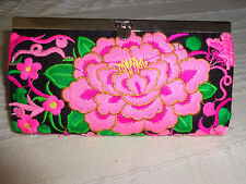 PORTEFEUILLE ETHNIQUE BRODE H ' MONG NEUF / H' mong clutch wallet embroidered