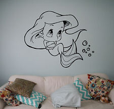 Disney Princess Ariel Vinyl Decal Mermaid Vinyl Sticker Cartoon Home Interior 9