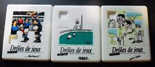 VINTAGE 3 SMALL GAMES OF PATIENCE GAME DROLES