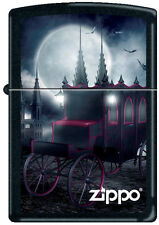 Zippo Goth Carriage with Bats Black Matte Windproof Lighter NEW RARE