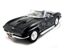 1967 CHEVROLET CORVETTE BLACK 1:24 DIECAST MODEL CAR BY MOTORMAX 73224