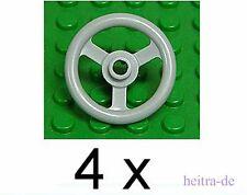 LEGO - 4 x Lenkrad / Absperrrad 3x3 hellgrau / Steering Wheel Small 2819 NEUWARE