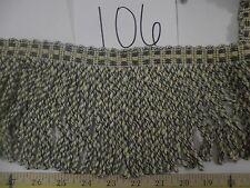 9 Yards Italian  BULLION ROPE  FRINGE  BLUE/BEIGE CREAM  Fabric Trim A106