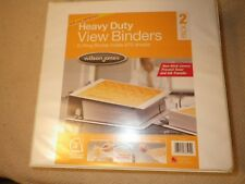 "SET OF 2 - BRAND NEW - 3"", 3 RING BINDER BY  WILSON JONES - 3 inch"