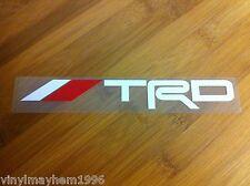 TRD Toyota Racing Development JDM vinyl 2 color sticker decal  FR-S Celica Supra