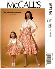 McCalls Sewing Pattern 7184 M7184 Archive Collection 1958 Misses Top Jumper S-Xl