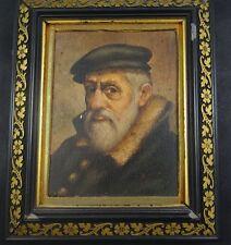 Unleserl. sign. hommes portrait, huile/malfaser, encadrés (234/12043)