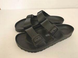 Birkenstock Mens Arizona Eva Black Two Straps Wide Comfort Casual Sandals L11 M9
