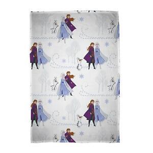 Disney Frozen 2 Journey Flannel Fleece Blanket Bed Throw Anna Elsa Olaf
