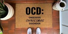 Christmas Doormats Coir Non Slip Indoor Outdoor Mat Rubber Novelty Door Matt
