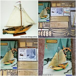 ⭐ Billing Boats Denmark Hoogaars Antique Dutch Flat-Bottomed Sailboat Wooden Kit