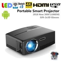 Portable HD 3D Multimedia LCD LED Projector Home Cinema Theater HDMI USB 1080P