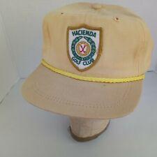Vintage Caps Headwear Golf Adjustable Hat Hacienda Golf Club La Habra Heights
