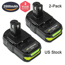 2-Replace for Ryobi 18V Lithium Battery 2.5AH One+ P102 P103 P105 P107 P108 P109