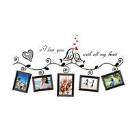 Love Birds Photo Frame Art Wall Stickers Decal Room Decor Wall Art AD