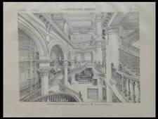PARIS, MAGASINS 82 RUE REAUMUR - 1897 - PLANCHE ARCHITECTURE - CONSTANT BERNARD