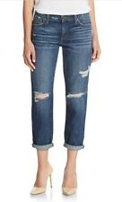 NEW JOE'S JEANS WOMENS SKINNY DESTROYED CROPPED JEANS IN AURA WASH 28