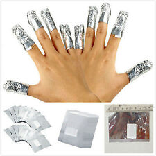 100 X Aluminium Foil Wraps Nail Art Soak Off Acrylic Beauty Varnish Remover Pads