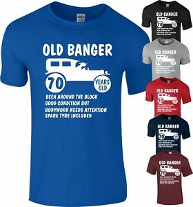 70th Birthday 1948 Age 70 Years Old Banger present Gift T-Shirt Funny Top