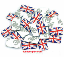 Set of 4 New Small Union Jack Flag Decals UK British Flag Sticker Free Shipping