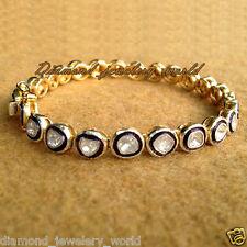 Estate Victorian 2.19ct Real Antique Cut Diamond Silver Tennis Bracelets Jewelry