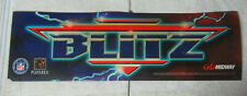 """Cracked original Nfl Blitz Midway 25 -7 1/2"""" sign marquee cF89"""
