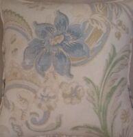 A 16 Inch cushion cover in Laura Ashley Baroque Duck Egg Fabric