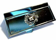 Genuine, Wedgwood Cameo On Silver Plated Rectangular Pill Box