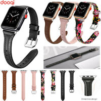 For Apple Watch Series 6 5 4 3 2 1 SE 44 42 40 38 mm Genuine Leather Band Strap