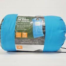 "Kid's Sleeping Bag Sparky the Robot Blue 5'2"" x 2' Wearable Sleeves, Ozark Trail"