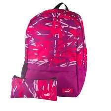 Puma Back to School Backpack & Pencil Case Set - Graphic Pink