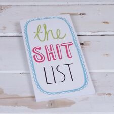 Magnetic Shopping List Note book Fridge magnet THE SH*T LIST gift New