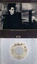U2  Where The Streets Have No Name  rare promo 45 with PicSleeve