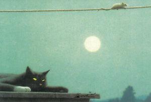 Doppelkarte: Quint Buchholz - Katz und Maus im Vollmond