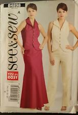Butterick See & Sew pattern B4898 Misses' Top, Skirt, Pants sz 8,10,12,14 uncut