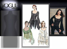 OOP Vogue 7733 CORSET STYLE BONING TOP TUNIC FLARED FLOUNCE SLEEVES PATTERN 6-10