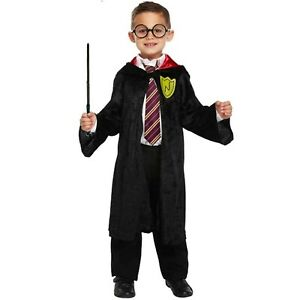Boys Wizard Fancy Dress Up Costume Harry Outfit Age 4-12 yrs NEW