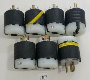 *NEW* LOT OF 7 PASS & SEYMOUR LEGRAND L620PGCM GROUND INDICATION PLUG 20A 250V