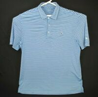 Vineyard Vines Striped Golf Polo Shirt Men's Large Polyester/ Spandex Stretch